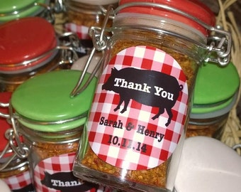 12 I Do BBQ Engagment Party/Wedding Shower Round Favor Labels