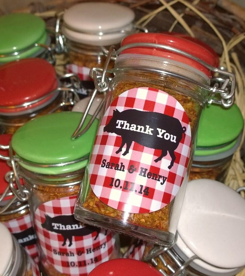 Engagement Party Gift Ideas: 12 I Do BBQ Engagment Party/Wedding Shower Round Favor Labels