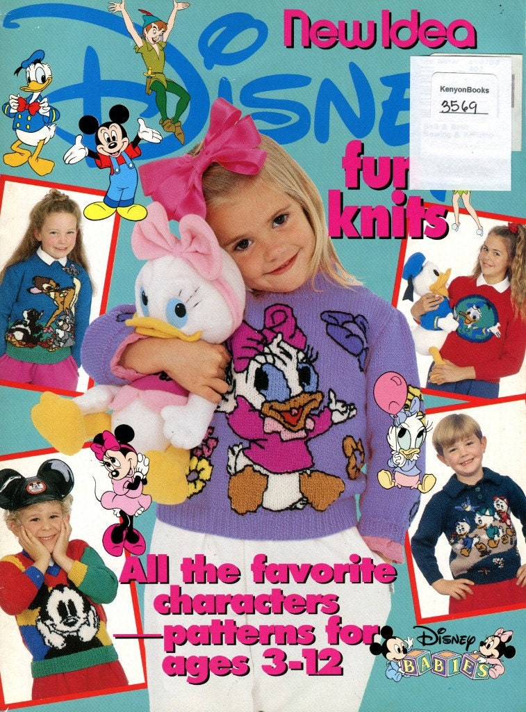 Knitting Patterns For Childrens Characters : DISNEY FUN KNITS Pattern Book for Children Ages 3 12