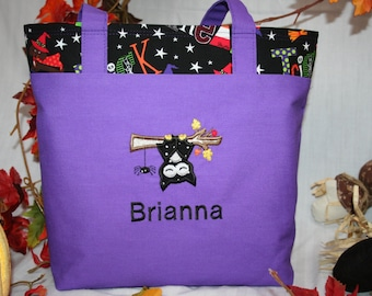 Personalized Trick or Treat Halloween Tote Bag