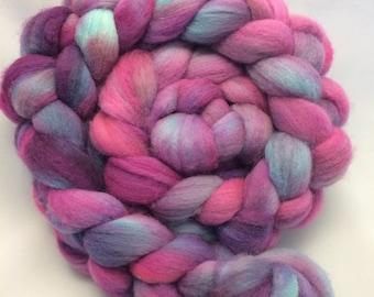 Hand Dyed Roving - Purple Haze - 4 oz - 100% Merino