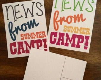 Camp Postcards/Stationery