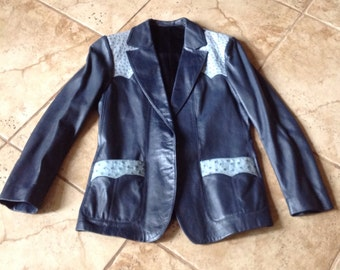 Vintage Scully Ladies Ostrich Leather Jacket sz.16