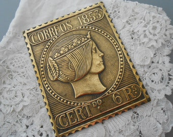 Vintage metal plaque