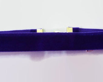 Purple velvet choker necklace custom collar gothic goth emo victorian