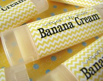 Banana Cream  - Vegan Lip Balm - Natural Lip Butter  - Bath and body - banana vanilla