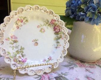 "Beautiful, Antique, Royal Austria, 6"" Plate"