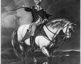President George Washington -General on Horseback-Photo Print
