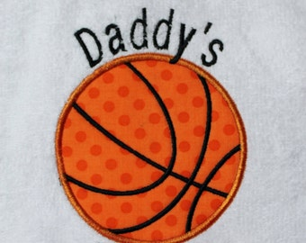 Daddy's #1 Fan Terry Cloth Bib with Black Binding