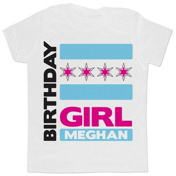 Items Similar To Chicago Flag Personalized Birthday T