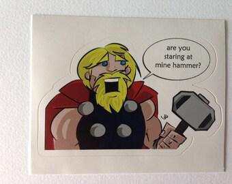 Stickers   Mine Hammer