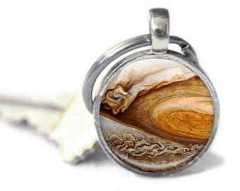 Jupiter keyring - Jupiter Photo Keychain - Planet Jupiter