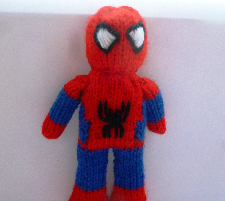 PDF knitting pattern: Spiderman from NerdKnitting on Etsy ...