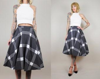 Plaid circle skirt | Etsy