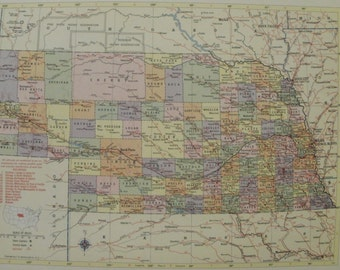 Nebraska Map Omaha Lincoln Hastings Railroad Route Map Usa State Maps United