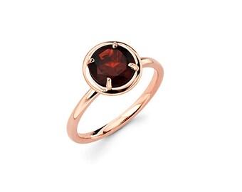 14K Rose Gold and Garnet Ring, Rose Gold Ring, Fashion ring, Right Hand Ring, Promise Ring, Garnet, Colorstone ring, Garnet Ring