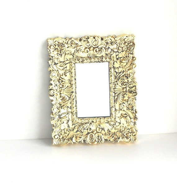 Home interiorunique small wall gold mirror by goldleafgirl for Small gold framed mirrors