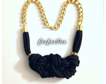 Black Knotted Necklace