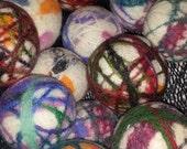 Super Sale Surprise set of Felted wool dryer balls