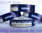 Kids Safety ID Wristband - Autism 8/Pack