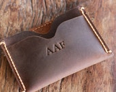 PERSONALIZED WALLET ---- The Inside Out Men's Leather Wallet -- Minimalist Wallets - 031 - The Wallet of The Year
