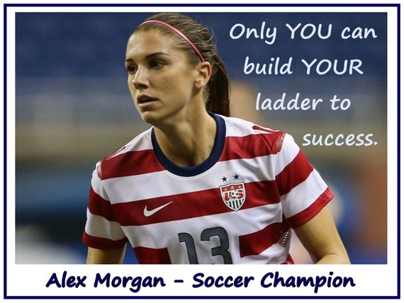Soccer Poster Alex Morgan Olympic Champion By ArleyArtEmporium