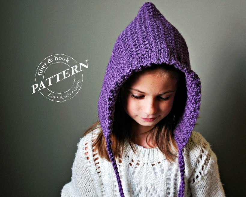 CROCHET PATTERN Ribbed-Edge Pixie Hat Pattern Crochet Pixie