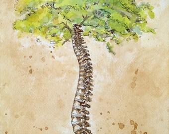"11""x14"" Arbor Vitae/ Tree of Life (Watercolor)"