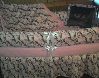 TODAY ONLY SALE***Pink Realtree Camo crib bedding set