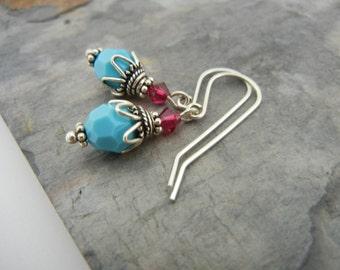 Sky Blue  Dangle Earrings