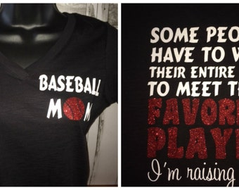 Women's Baseball Favorite Player Glitter Shirt