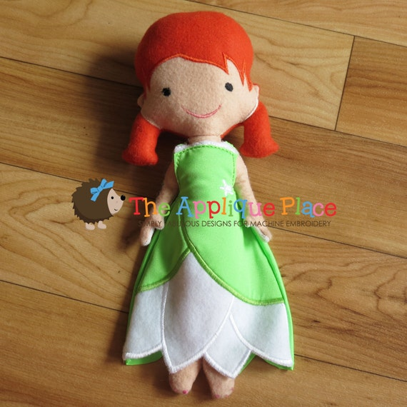 Green princess gown for dolls cloth doll clothing in