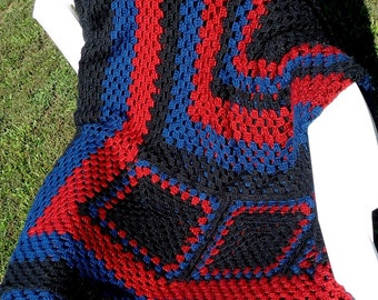 Made to order Queen/King size crocheted blanket