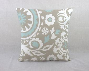 Grey Pillow Cover - 18 x 18 Pillow Cover -  Throw Pillow Cover
