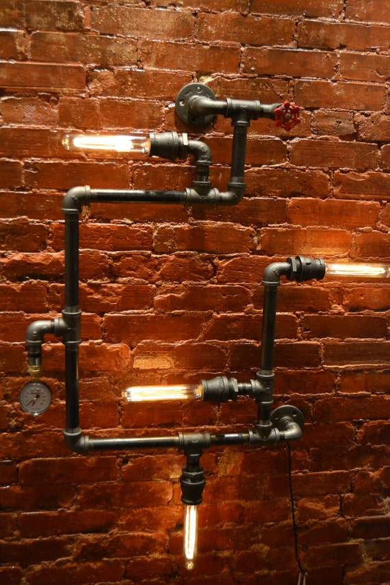 Steampunk Industrial Pipe Wall Light Wall Light Industrial
