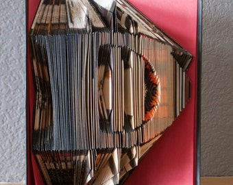 Diablo 3-Folded Book Art- Book Lover-Gamer- Blizzard Games-Fan Art