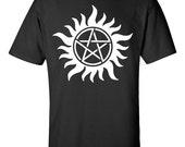 Anti-Possession Symbol Supernatural Black/Gray/White T-Shirt