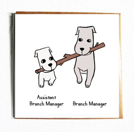 Branch Manager Cute and funny illustrated everyday birthday