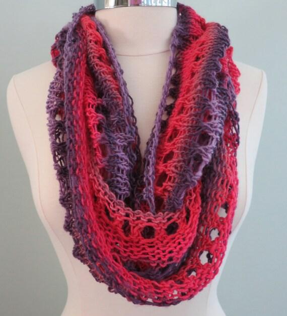 Beginner Knitting Pattern Infinity Scarf : Beginner Pattern PDF 135 Knitting Pattern Grace Elle ...