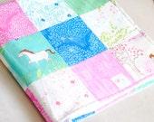 Baby Girl Minky Quilt - Michael Miller Sarah Jane Wee Wander - Baby Shower - Patchwork quilt- Horses