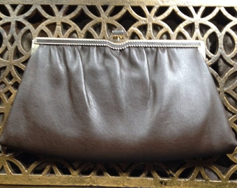 Ande Brown Leather Clutch