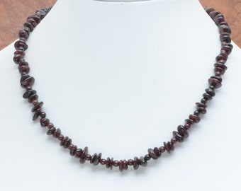 Garnet Chip Necklace
