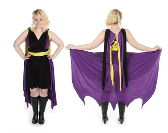 Bat Vigilante inspired Convertible Dress