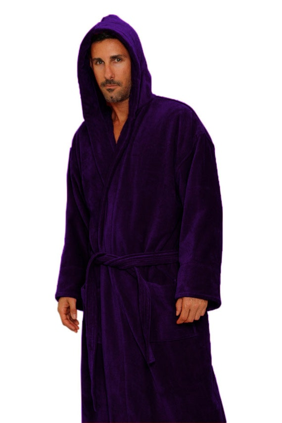 purple hooded bath robe personalized monogrammed bathrobe. Black Bedroom Furniture Sets. Home Design Ideas