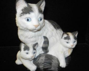 Cat and Kittens - Ceramic