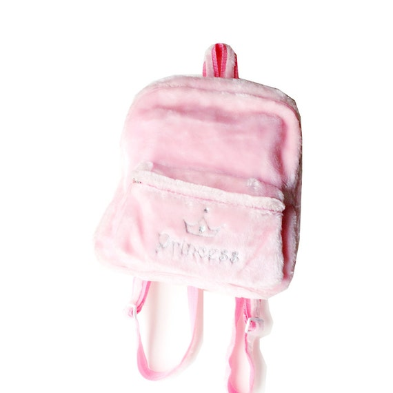 Pink Faux Fur Mini Backpack Pastel Grunge Mini Backpack