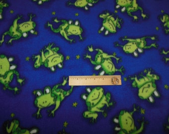 Fleece Baby Blanket Leaping Frogs