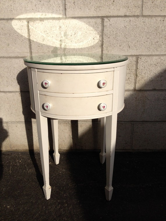 Shabby Chic French Provincial Bedside Table Bedroom Storage