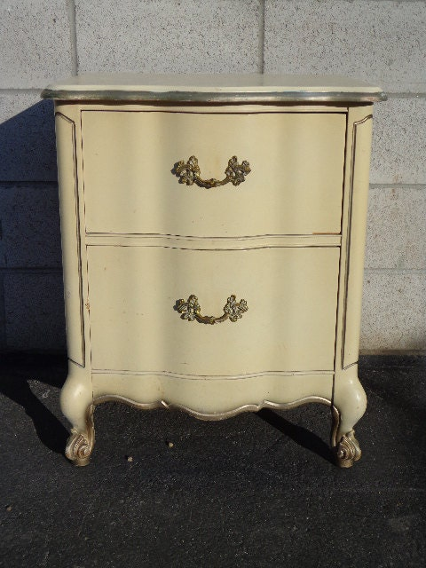 glamorous french shabby chic bedroom furniture   Scalloped French Provincial Night Stand Neoclassical ...