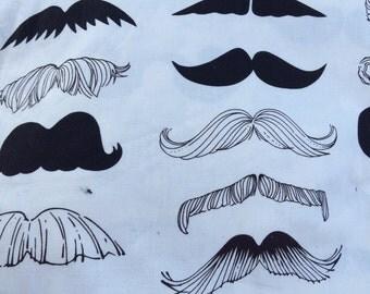 Car Seat Swaddle Blanket Flannel Mustache Boy